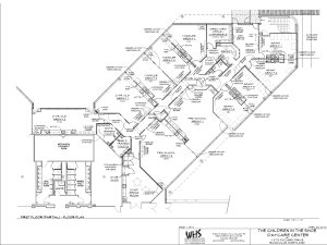 Children in the Shoe daycare center floor plan