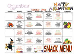 November 2016 snack menu, East-West